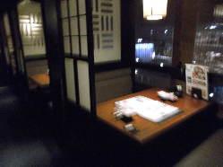 3名様4名様に適した半個室テーブル席