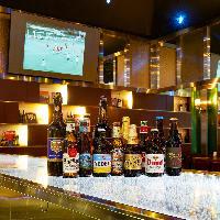 ヨーロッパを中心に世界各国の ボトルビールが20種以上!