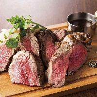 低温調理だから安心、安全。肉そのものの味わいをどうぞ!