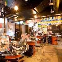 韓国屋台をイメージした店内。半個室は4~10名様、全4室あります