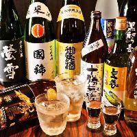 北海道を味わえる!の地酒、ワイン、焼酎を取り揃え