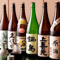 店主セレクトの充実のお酒はお酒好きの方も納得の品揃えです