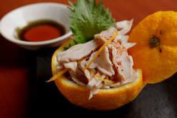 さっぱり酢モツ!柚子胡椒で仕上げた常連様定番の一品
