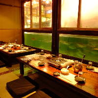 【亀戸店】まるで水族館の完全個室。18名様まで。