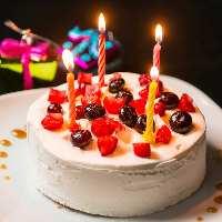誕生日や記念日にはとっても可愛いホールケーキでサプライズ♪