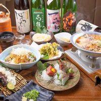 四国料理を満喫できる飲み放題付宴会コースは4,000円(税抜)〜