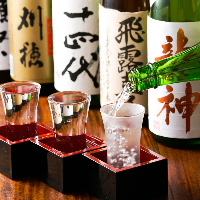 【極上銘酒】 絶品料理と相性抜群の日本酒は常時15種以上!