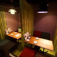 【横浜】団体様でも半個室が貸切でご使用になれます。