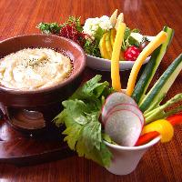 【横浜】有機野菜のクリーミーバーニャカウダ。