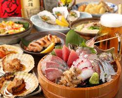 宴会★オススメ【まんぞくコース】は2.5H飲み放題付で4980円♪