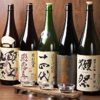 日本酒飲み比べ!銘柄、磨き、温度などテーマ色々。