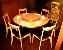 中華と言えばやはり丸いテーブル