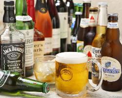 アルコールメニューも豊富です!