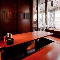 個室のゆったりプライベート空間。ご家族でのご利用も可能!
