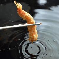 ●ヘルシーな天ぷら● 落花生油を使っているから軽やかに揚がる