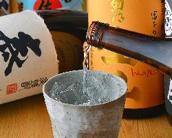 ■焼酎は50種以上 焼き鳥と相性の良い焼酎を常備50種以上ご用意