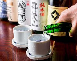 厳選の日本酒・焼酎も豊富にご用意しております