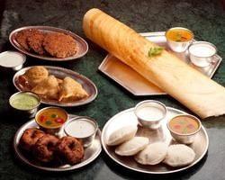 南インドのティファン(軽食)の数々。