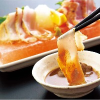 「肝ぽん酢」でいただく、紅楽美のたたき 特製肝ぽん酢