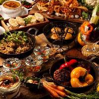 豪華なお野菜コースはお肉料理も入って男性も大満足!
