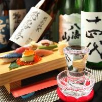 栃木の地酒や全国から店主が厳選した日本酒が多数