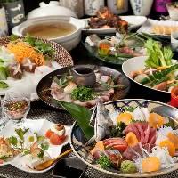 季節の宴会コースは厳選食材を使用した和風創作料理