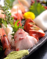 【新鮮魚介】 小田原港より直送されたとれとれの逸品をどうぞ