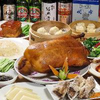 全10品の飲み放題付豪華コース!小籠包やエビ料理、北京ダック◎