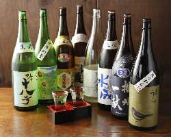 店長厳選の日本酒もご用意しています。