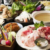 【食べ放題】 しゃぶしゃぶや旬の逸品等自慢の料理が楽しめる