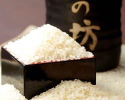 当店はお米は地元:浦安で精米したものを使用
