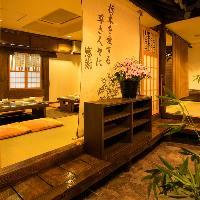個室多数完備、雰囲気良しで寛ぎの時間を演出