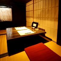 少人数で利用可能な大人の隠れ家的寛ぎの個室空間