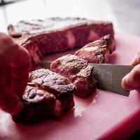 [熟成・燻製ステーキ] USビーフのプライムグレードを中心に使用