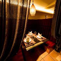 [2~3名様個室] カーテン個室はデートや記念日・接待におすすめ