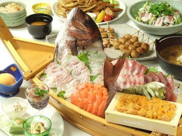 旬魚の箱盛りと季節の釜飯 こじま