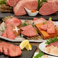 焼肉グレート自慢のコース料理は全15品4,500円(税抜)~利用可能