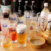 ◆飲み放題プラン◆ お一人様1,800円(税込)にてご提供!