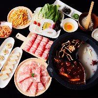 ご宴会コースは火鍋やもつ鍋などメインをお選びいただけます。