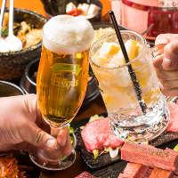 生ビールやハイボール・果実酒・焼酎など充実のラインナップ