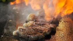 【鉄板焼き】 ステーキは最大400gまでOK!食べ応え抜群です♪
