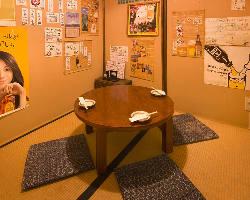 ちゃぶ台個室は人気のお部屋です。
