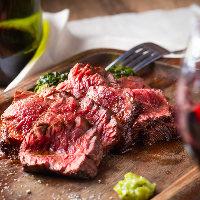 ESOLAのステーキは赤ワインとの相性も◎