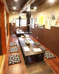 12名様までの半個室も完備!周りを気にせず宴会可能です!