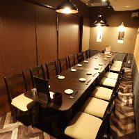 人気の個室席!6~18名様まで可能。少人数から大人数の宴会に!