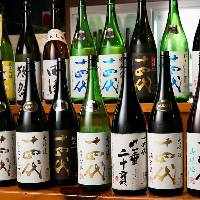【日本酒】 全国各地から厳選したこだわりの地酒を取り揃え
