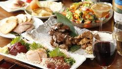 鶏料理と相性抜群の日本酒は常時6種以上ご用意