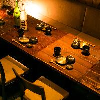 宴会にも最適なテーブル席でじっくりお楽しみいただけます