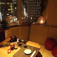 夜景の見えるカップル個室 デートや記念日を演出