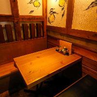 2名様~の小個室もご用意しております全て個室でご案内可能です